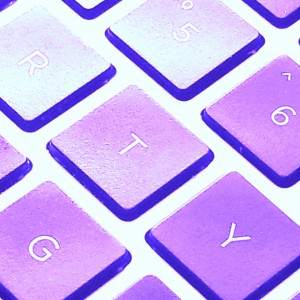 Keyboard in Purple