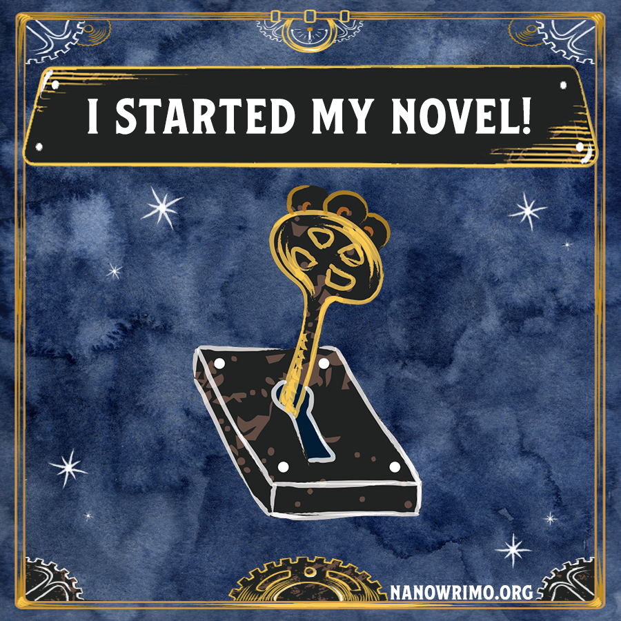 Day 1 NaNoWriMo Badge