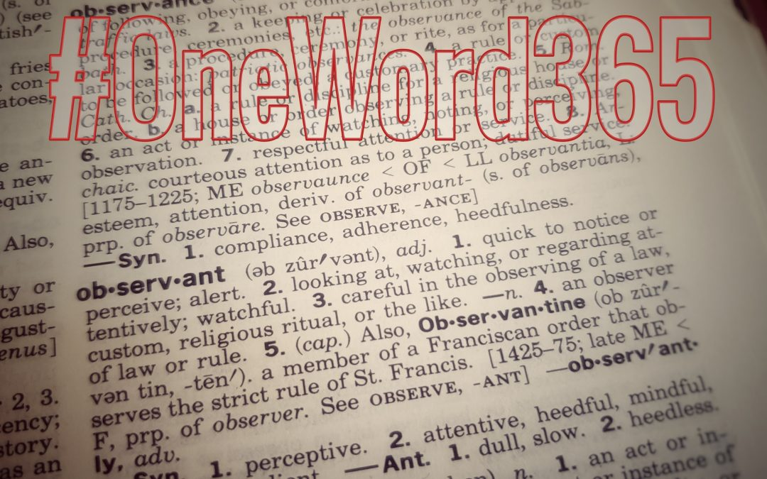 Observant: My #OneWord365 for 2020